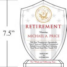Retirement Recognition by Shield Recognition Plaques For Navy Service Diy Awards
