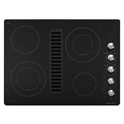 Kitchenaid Downdraft Electric Cooktop kitchenaid kecd807xbl 30 quot electric black downdraft cooktop sears outlet