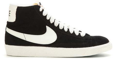 nike blazer high suede vintage sneakers nike blazer mid vintage suede high top sneakers in black