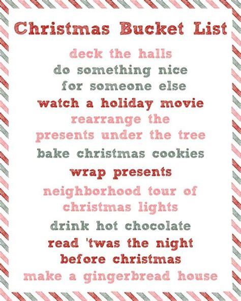 best 25 christmas bucket lists ideas on pinterest
