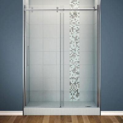 home depot glass shower doors maax halo 60 in x 78 3 4 in semi framed sliding shower