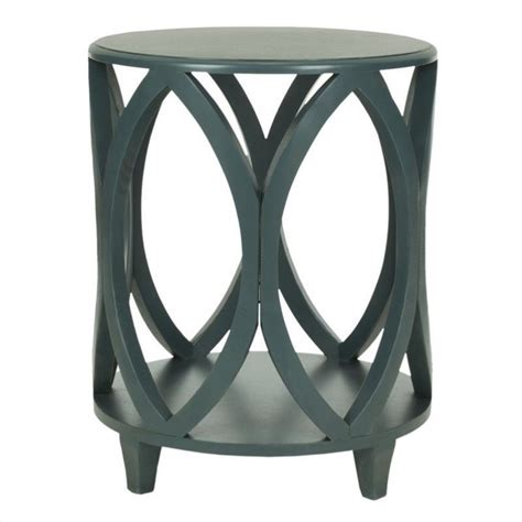 Teal Accent Table Safavieh Janika Pine Wood Accent Table In Teal Amh6607c
