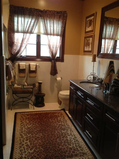 leopard bathroom ideas safari style bathroom with leopard print accents design