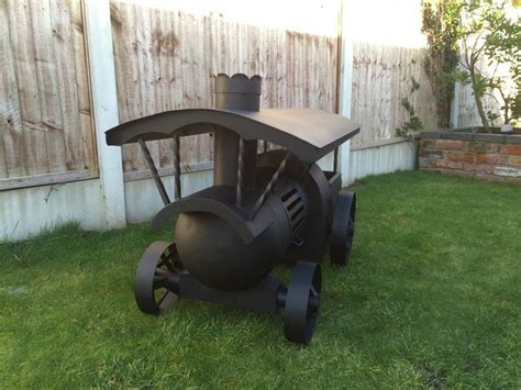 gas cylinder chiminea traction engine log burner wood burner gas bottle chiminea