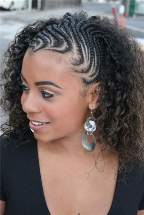 hair style with wave and braids for black teen with big foreheads braided side hairstyles for black women black women