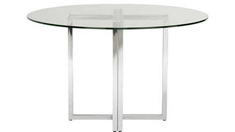 47 glass table top silverado chrome 47 quot dining table cb2