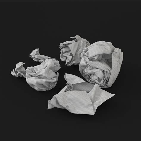 free download cgtrader models crumpled paper 3d model max obj fbx cgtrader