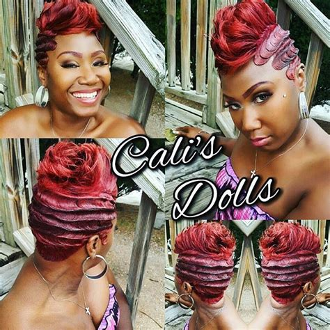27 peice with pin curls my boo ladytrucker14 scstylist quickweave fingerwaves