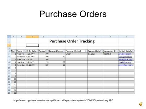Introto Excel Purchase Order Tracking Spreadsheet Template