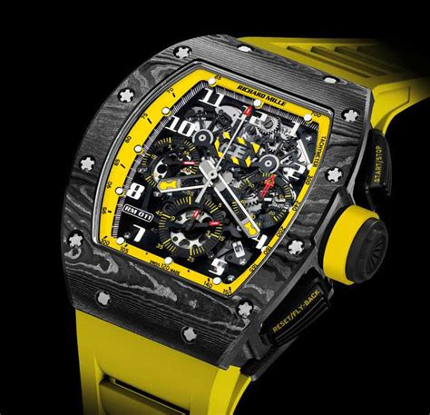 richard mille am 011 ag 011 72661 richard mille rm 011 yellow automatic flyback