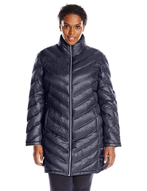 Plus Size Quilted Coat by Calvin Klein S Plus Size Chevron Quilted Packable Coat