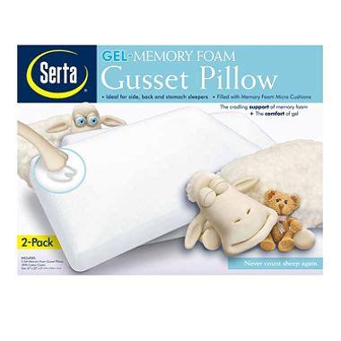 serta gel memory foam gusset pillow 2 pk sam s club