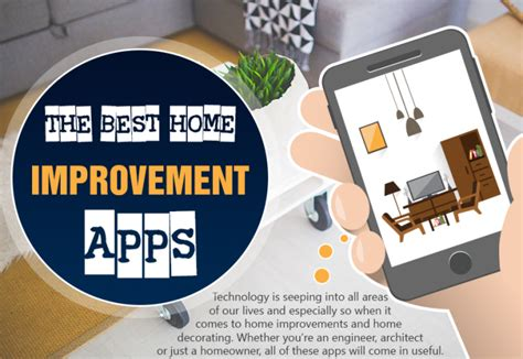 best home improvement apps infographic designer mag