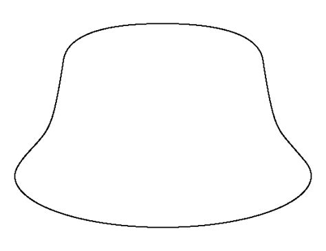 bucket hat pattern use the printable outline for crafts