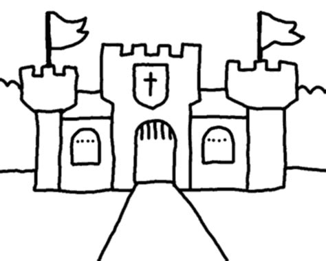 castle moat coloring page castle outline clip art 30