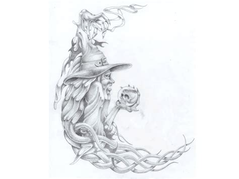 tattoo wizards designs 17 wizard tattoos designs