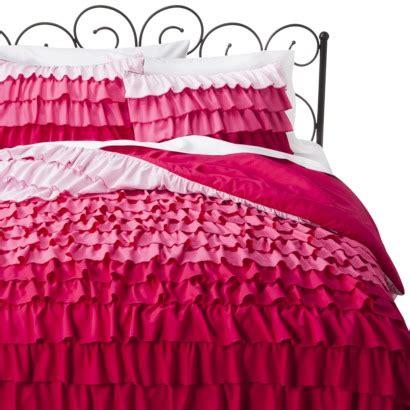 target pink bedding target xhilaration 174 ruffle comforter set pink