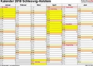 Kalender 2018 Schleswig Holstein Kalender 2018 Schleswig Holstein Ferien Feiertage Word