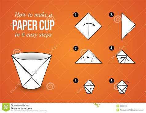 How To Make A Paper Cup - paper cup origami make your own cup stock