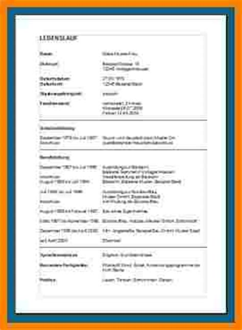 Tabellarisch Lebenslauf Vorlage 10 lebenslauf tabellarisch vorlage analysis