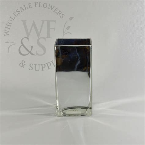 Mirrored Square Vase by Mirrored Glass Square Vase 8 Quot Wholesale Flowers And