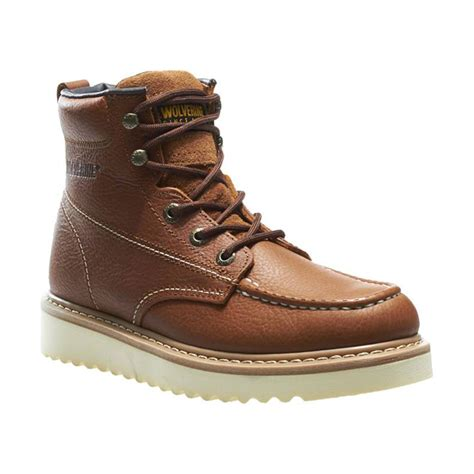 work world boots wolverine mens moc toe 6 quot work boot work world