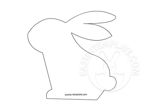 rabbit cut out template bunny rabbit template 2 easter template