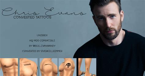 chris evans tattoos removed pin by zoey spencer on sims 4 cc sims