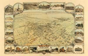 historical maps of california historical map of bakersfield ca 1901