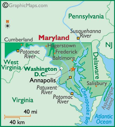 maryland map with county lines weather md