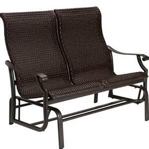 Photo patio glider bench images outdoor glider bench cushionsjpg photo