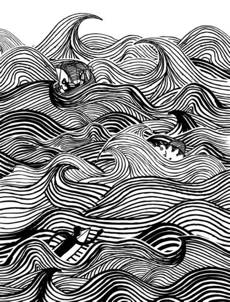 rhythmic pattern drawing heavy surf art print the deep pinterest
