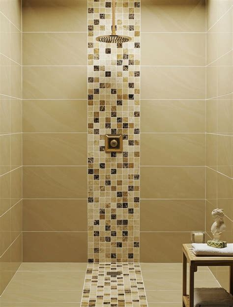 tile design ideas for bathrooms gold color for bathroom tile design ideas you can apply in