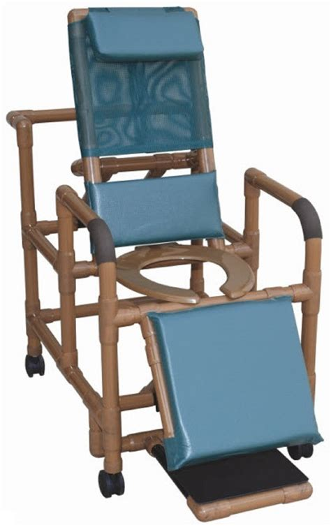 reclining shower chair with footrest wood tone reclining shower chair free shipping