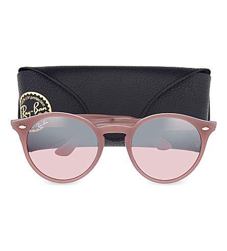 ray ban // rb2180 round phantos sunglasses – antique pink