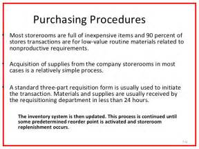 purchasing procedures e procurement and system