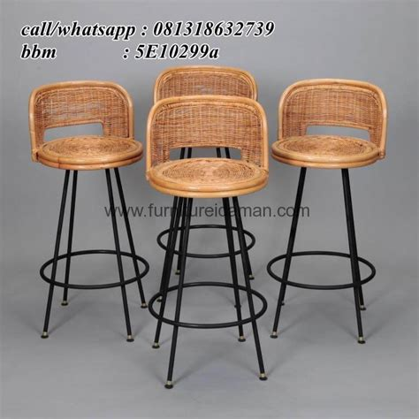 Kursi Bar Stainless kursi bar rotan cafe resto terlaris kci 76 furniture