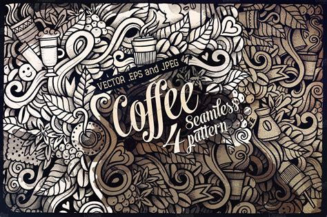 doodle bar drawing coffee doodles patterns patterns creative market