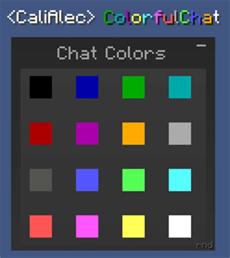 minecraft color chat 1 1 colorfulchat colored chat in smp minecraft mods