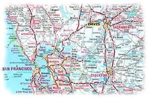of california davis map davis california map california map