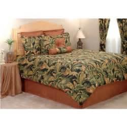 Tropical Bedding Set Kokomo Coral Black Green Tropical Leaf Bedding Comforter Set 5 Sizes Ebay