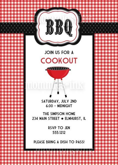 Bbq Bridal Shower Invitations by Bbq Invitation The And White Checkered Print