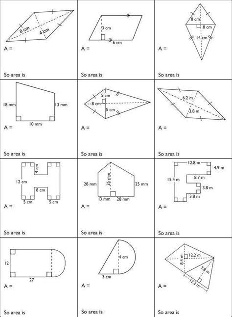 area of composite figures worksheet homeschooldressage