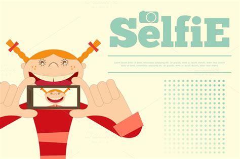 Kaos Selfie Selfie Graphic 15 selfie illustrations on creative market