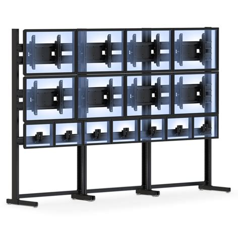 Monitor Wall varied size flat led monitor mounts floor stand afcindustries