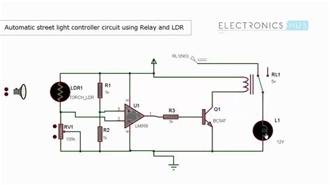 how do street lights work automatic street light controller using relays and ldr
