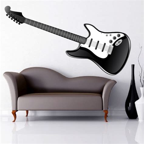 guitar wall stickers electric guitar wall mural decal wall decal murals primedecals
