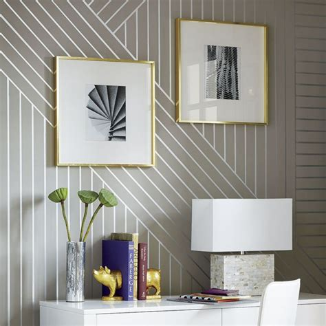 Ideas For Painting Bedroom diy linear wallpaper idea central the cb2 blog