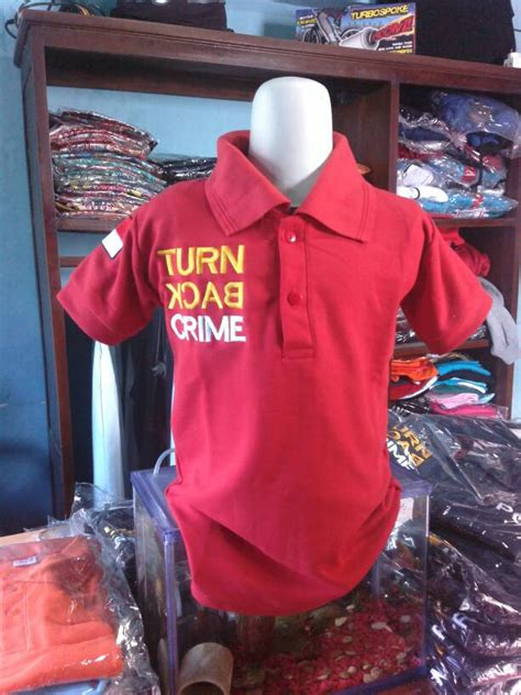 Kaos Cowok Indo jual kaos anak turn back crime model polo anak cowok dan
