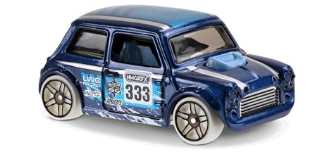 morris mini in blue hw snow stormers car collector
